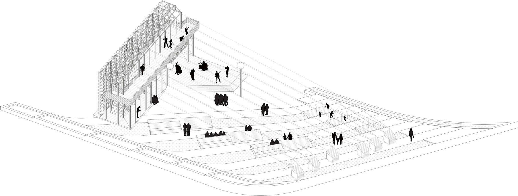 Elaborato grafico installazione piazza MAXXI