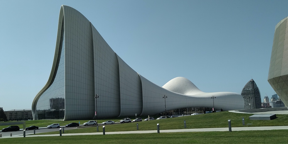 Veduta Heydar Aliyev Center Zaha Hadid Baku